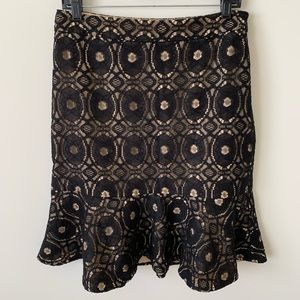Ann Taylor Black Lace Skirt